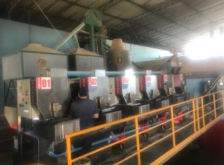 Fábrica instalada Produção Farelo extrusado e Óleo de Soja